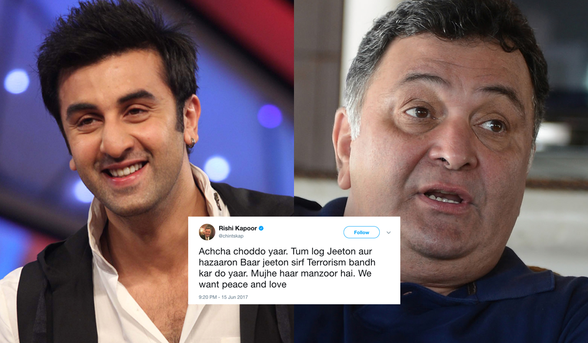 Ranbir Kapoor Just Spoke About All Those Racist Tweets His Father Did Against Pakistan