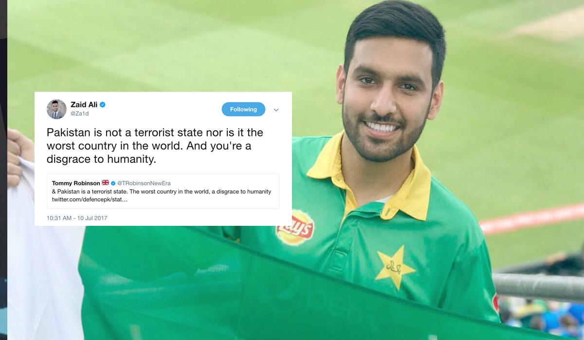 "Zaid Ali's Response To A Racist Tweet Against Pakistan Will Make You Go, ""Zaid, Zindabad"""