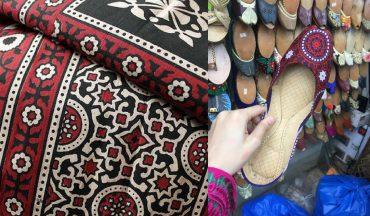 Ajrak Khussas Are Being Sold In Lahore And It's Started A Heated Debate Online